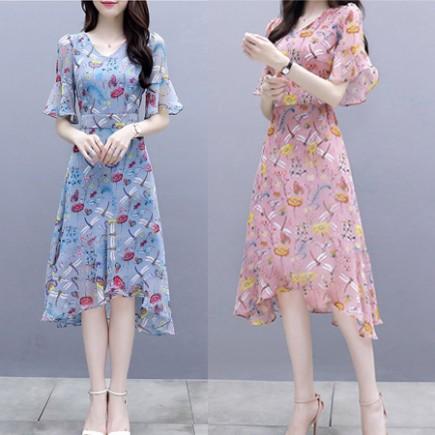 Đầm hoa tay loe xinh xắn - S30519