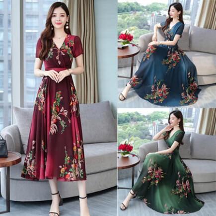 Đầm maxi hoa cao cấp - T0187
