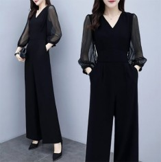 Jumpsuit cổ V tay voan - T0206
