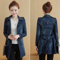 Áo khoác Blazer jean cột eo - H011