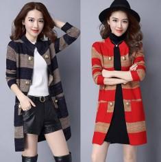 Áo khoác len blazer sọc ngang -T0299
