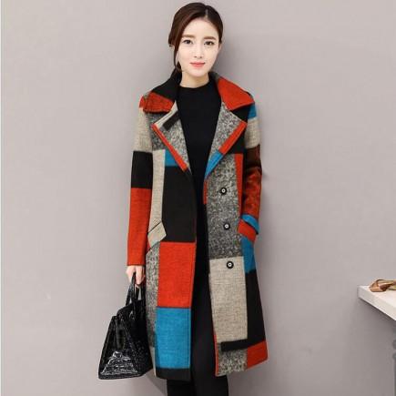 Áo khoác dạ ô màu cao cấp -H167