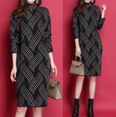 Đầm len họa tiết đan chéo -K385