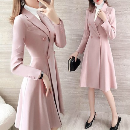 Áo khoác cổ vest dáng xòe - K367